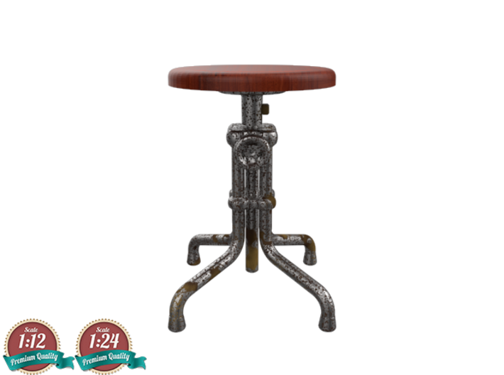 Miniature Isaac Counter Low Stool - Gramercy Home 3d printed Miniature Isaac Counter Low Stool - Gramercy Home