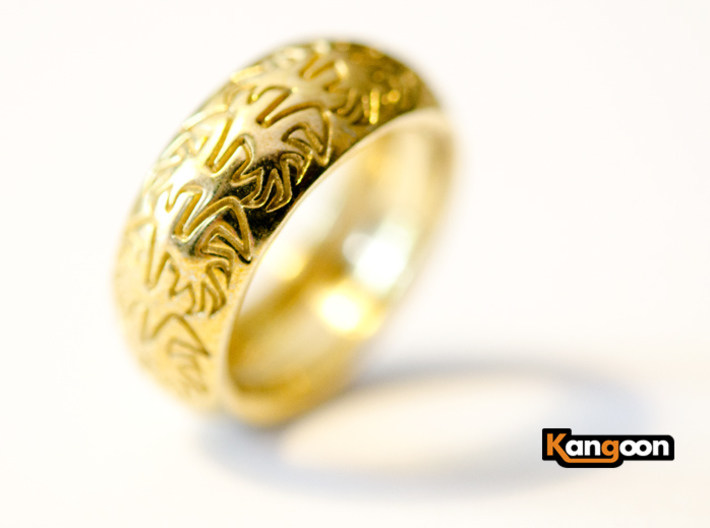 Ray B. - Tire Ring 3d printed Polished Brass printed
