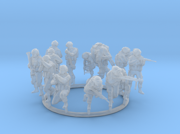 1:72 Soldiers Combat Group I (Poses 1 to 13) 3d printed