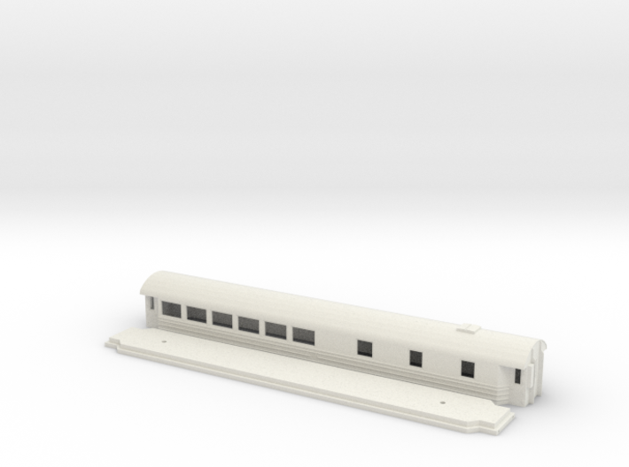 Ro3 version 1 - Swedish passenger wagon 3d printed