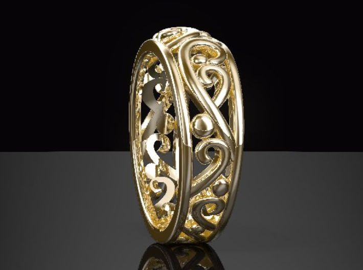 ArabesqueA-Ring US-Ring-size6.5(JP-size-#12)  3d printed