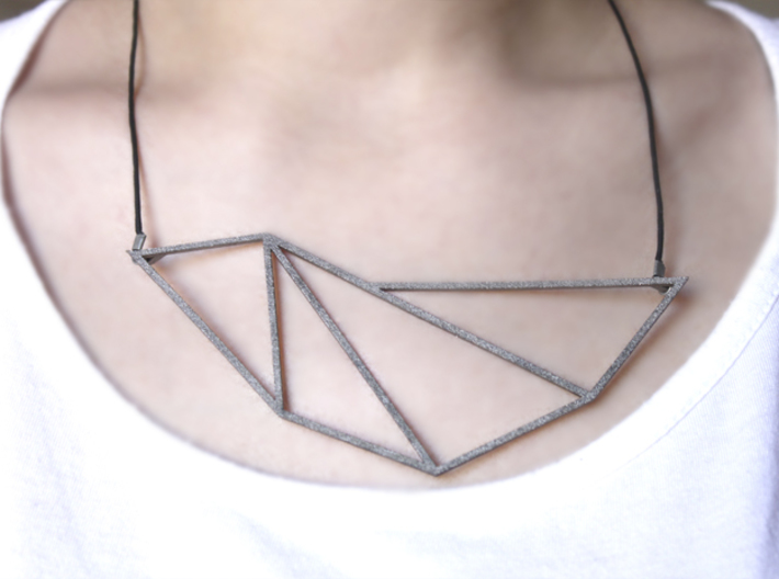 Convex Necklace - Crystalline Series 3d printed