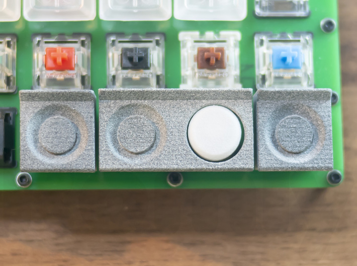 Cassette Recorder Keycap Set 3d printed Play/Rec button looks single but works separately.