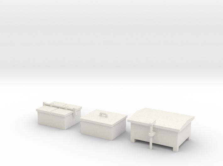HO Railroad Signal Boxes - Small 3d printed