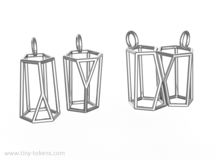 Scutoid Earrings (wireframe version) 3d printed