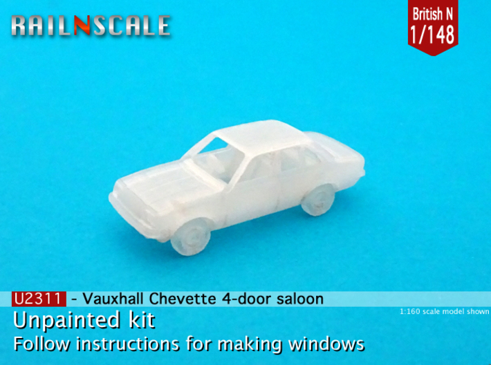 Vauxhall Chevette 4-door saloon (British N 1:148) 3d printed