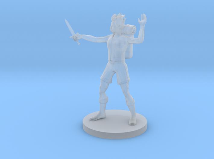 Female Earthfolk Sorceress 3d printed