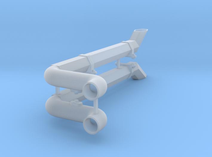 HC4 Exhaust hex Tube V2 3d printed