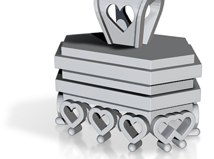 Crystal Charm Holder 3d printed Custom Pendant Charm to Hold a Lucky Quartz