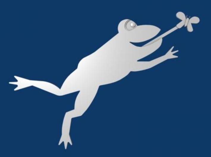 Leaping Frog - 7 inch Flat 3d printed