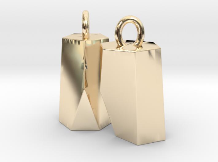 Scutoid Earrings (solid version) 3d printed
