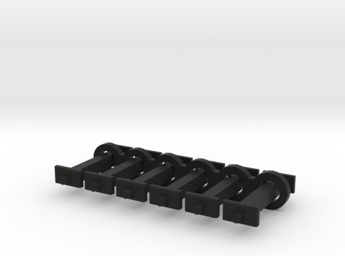 N Scale 11mm Fixed Coupling Drawbar x6 3d printed