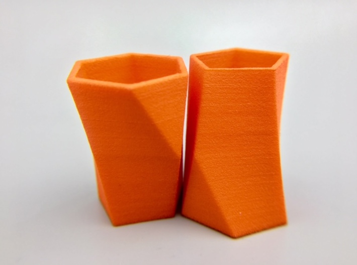 """Pair of Packable Scutoids 3d printed Order """"Small"""" for hollow models or """"Large"""" for (same size) solid models"""