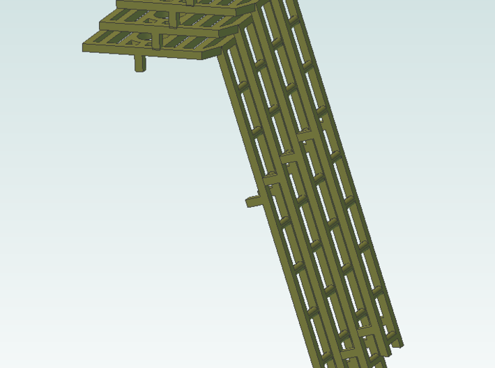 ladders 4 8ft BRASS 3d printed This is sreenshot of product