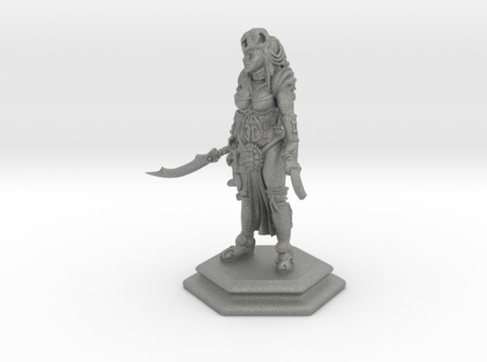 Female sword soldier 54mm 3d printed