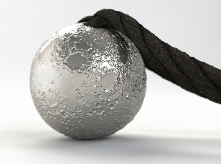 Full Silver Moon (Pendant 20mm) 3d printed RENDER PREVIEW