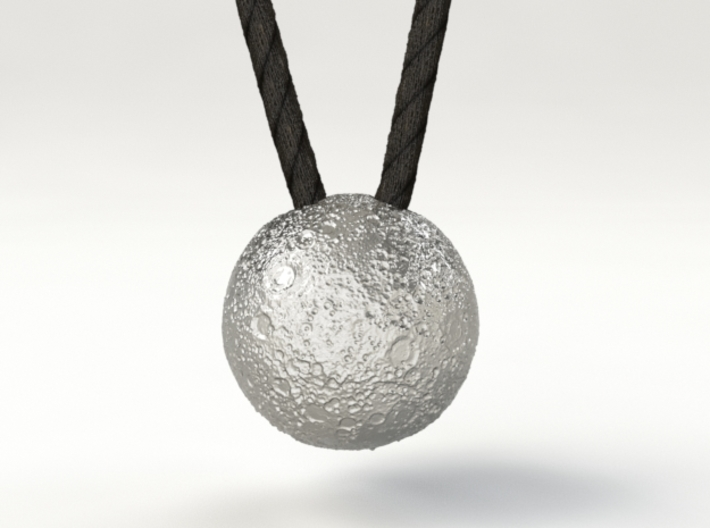 Full Silver Moon (Pendant 20mm) 3d printed The Dark Side of the Moon