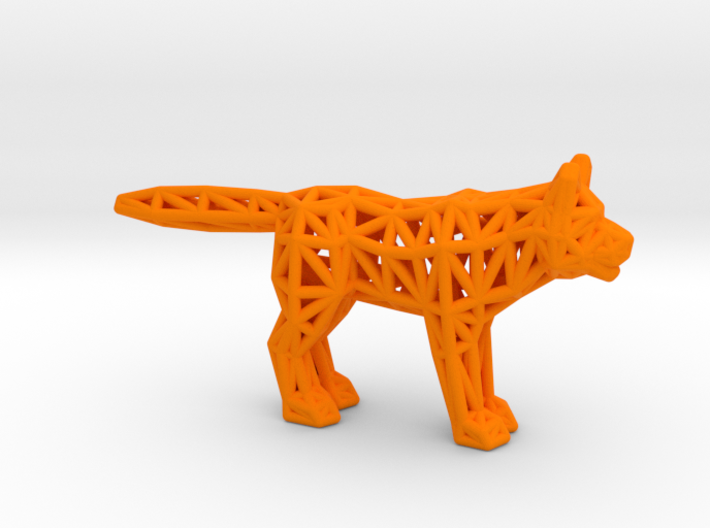Gray Wolf (adult) 3d printed