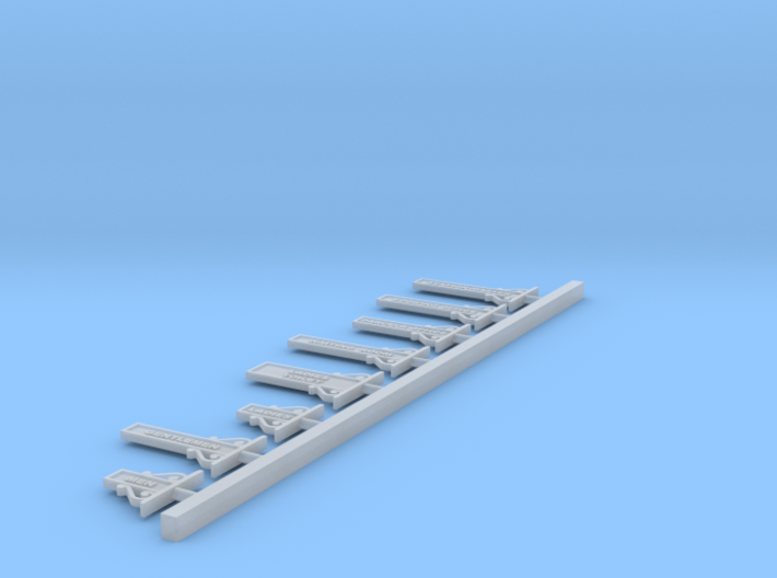 7mm Basic Set - NSWR Small Station Signs 3d printed