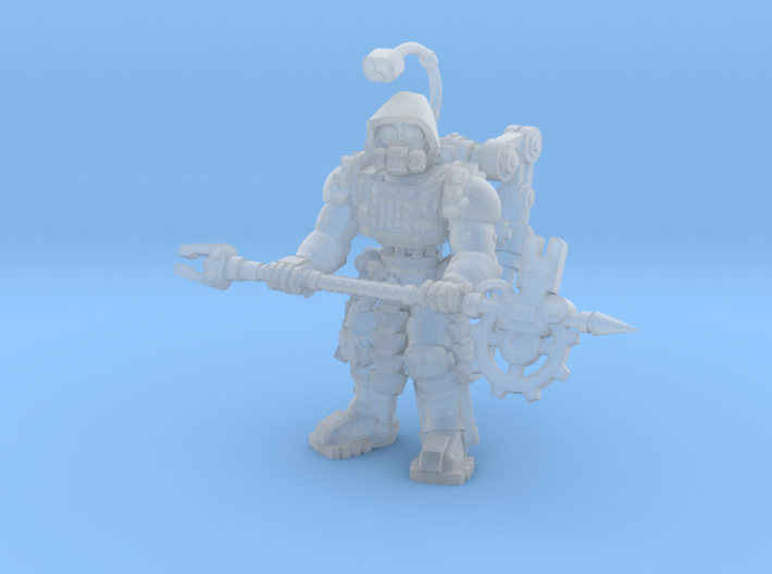 28mm Tech Cult engineer (onepiece version) 3d printed