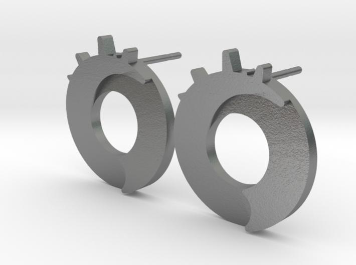 Exploding Dot Earrings 3d printed