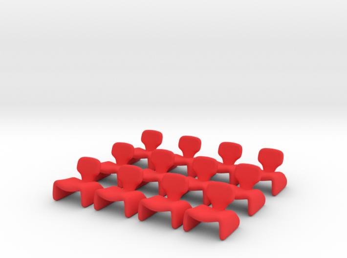 12 Tiny Djinn Chairs 3d printed