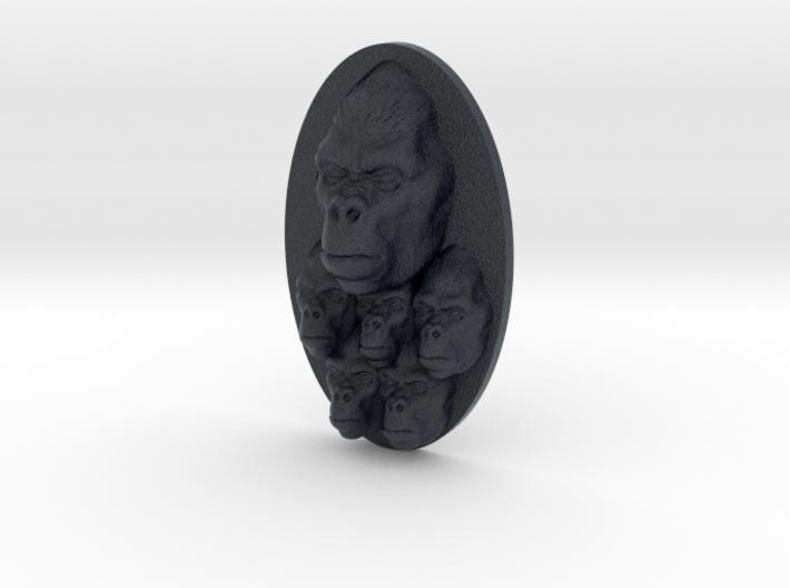 Gorilla Multi-Faced Caricature (002) 3d printed