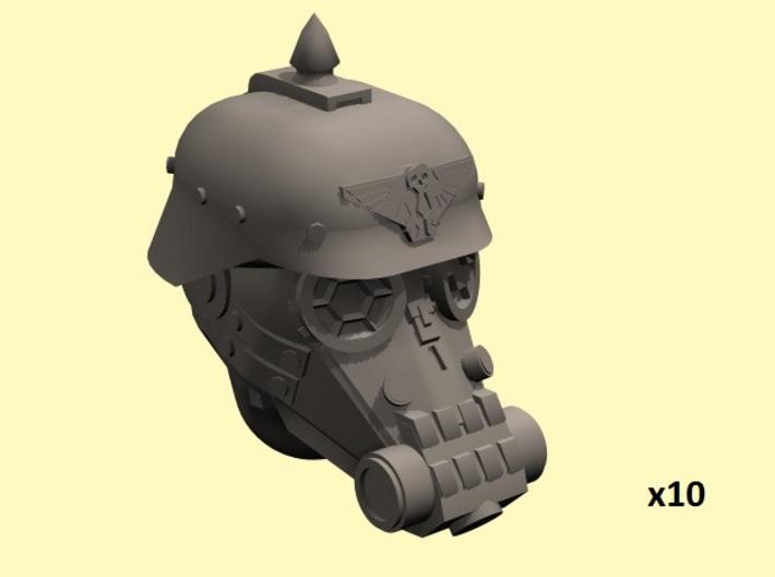 28mm Dieselpunk soldier heads 3d printed