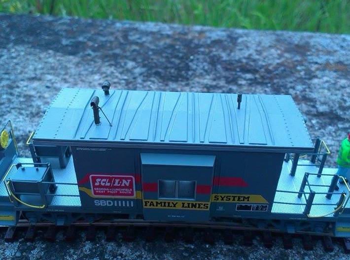 HO Bluford Caboose Roof 3d printed