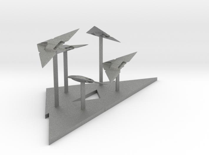 Raider Fighter Fleet (2.5 x / 6 y / 2.14 z) 3d printed