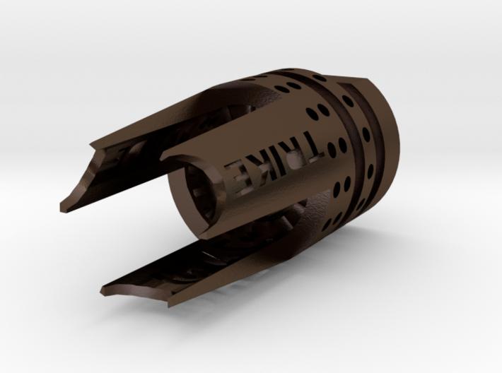 Trike Flash-Hider (14mm- Steel) 3d printed