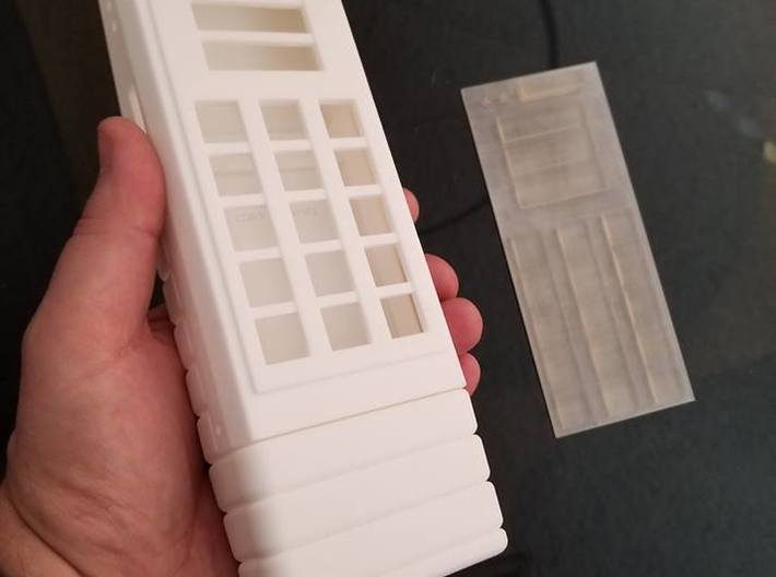 radiation monitor body top - part 1 of 3 3d printed