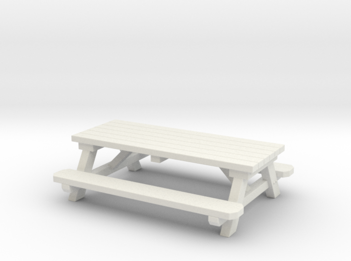 Picnic Tables 01. 1:24 scale  3d printed