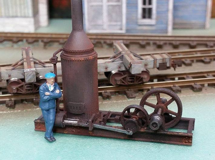 HO Scale Steam Donkey 3d printed