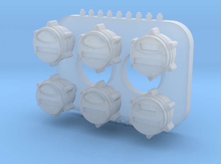 1:35 US Military blackout tailllights 3d printed