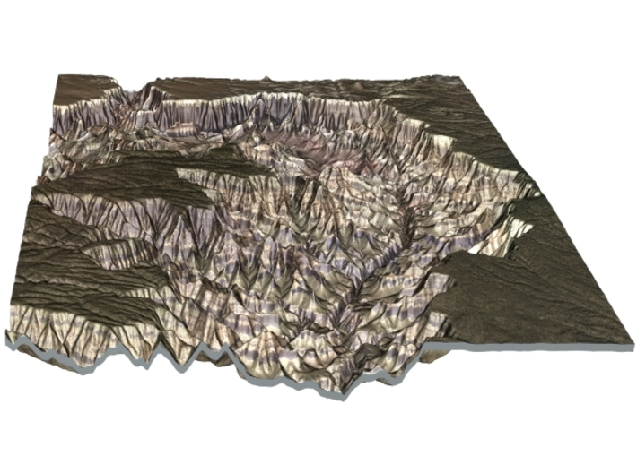 The Grand Canyon Map, North & South Rim 3d printed