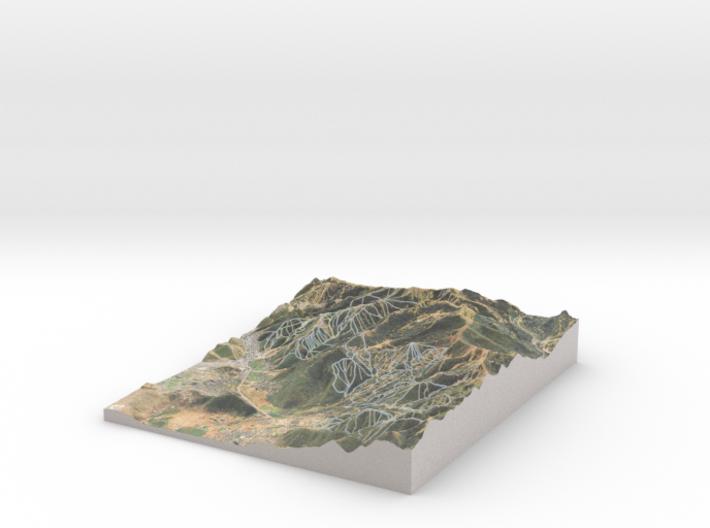 Park City Ski Map, Utah 3d printed