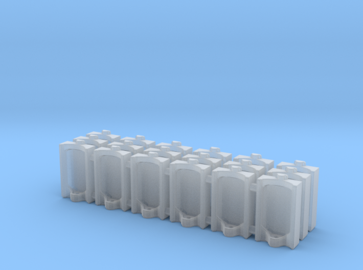 Urinal 02.HO Scale (1:87) 3d printed