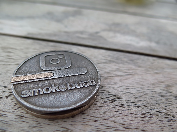 Buttcoin Cigar Stand with IG Logo (one half) 3d printed
