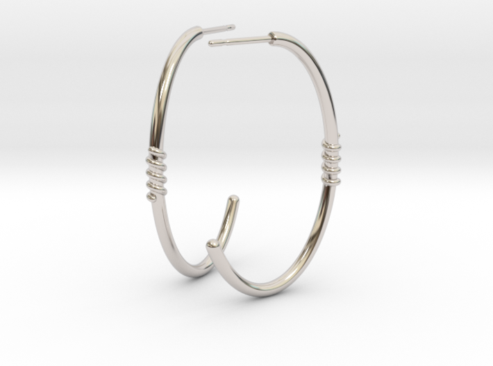 Ellipse Earrings 3d printed