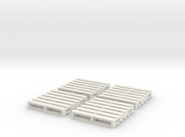 HO Scale Wooden Pallet (4 pack) 3d printed