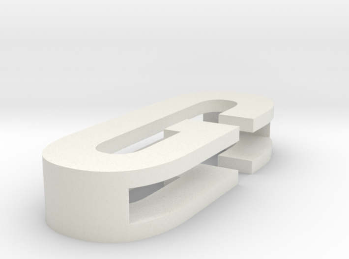 CHOKER SLIDE LETTER G 1⅛, 1¼, 1½, 1¾, 2 inch sizes 3d printed