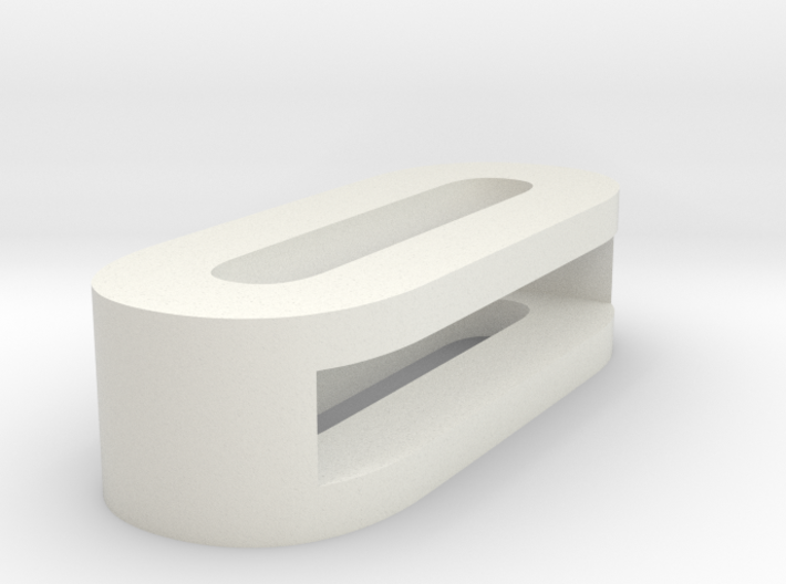CHOKER SLIDE LETTER O 1⅛, 1¼, 1½, 1¾, 2 inch sizes 3d printed