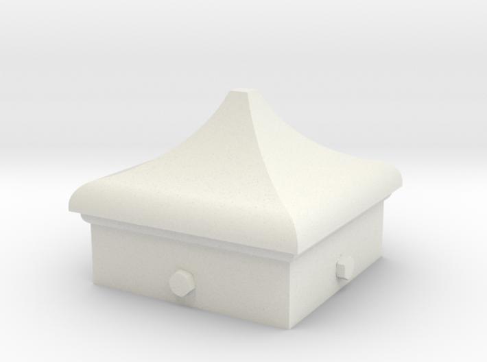 Signal Finial (Square Cap) 1:6 scale 3d printed
