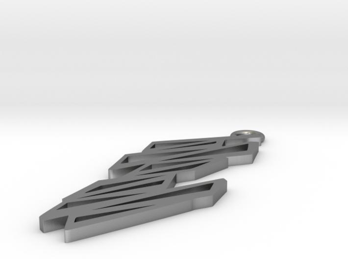 Zigzag pendant 3d printed