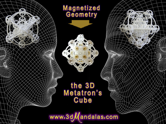 3D Metatron's Cube (add your own magnets) 3d printed Not bad without magnets either !