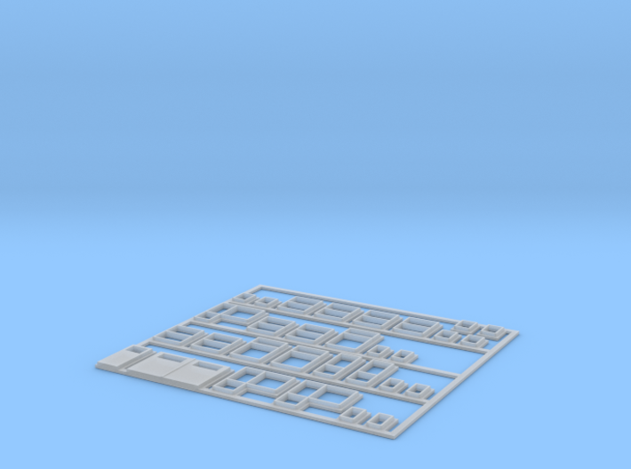 1:220-WINDOWS/DOORS for Polish house - PRL 3d printed