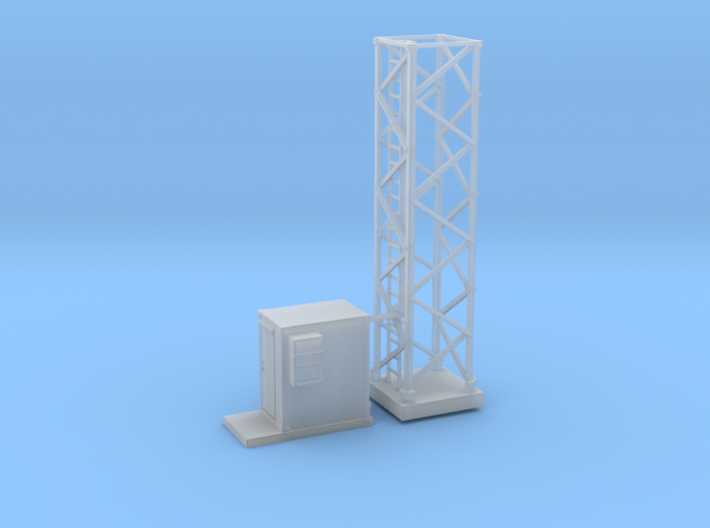 Light Tower Base Site 1-87 HO Scale 3d printed