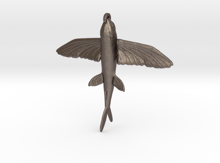 Flying Fish Pendant 3d printed