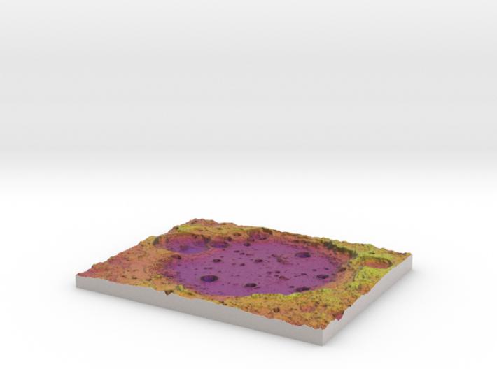 Moon Map:  Large Crater, Plasma 3d printed